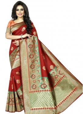 Woven Work Art Silk Trendy Classic Saree