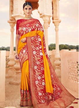 Woven Work Art Silk Trendy Classic Saree