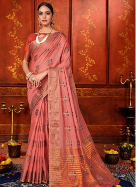 Woven Work Art Silk Trendy Classic Saree For Ceremonial