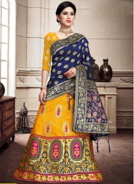 Woven Work Banarasi Silk A - Line Lehenga