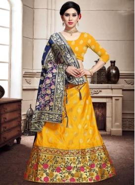 Woven Work Banarasi Silk A Line Lehenga Choli