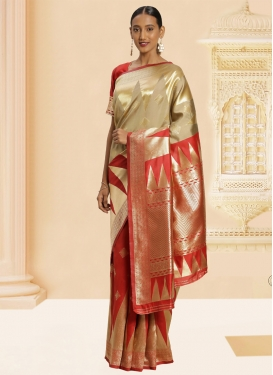 Woven Work Banarasi Silk Contemporary Saree