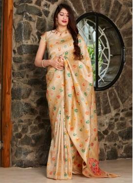 Woven Work Banarasi Silk Contemporary Style Saree