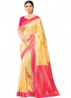 Woven Work Banarasi Silk Designer Contemporary Saree