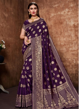 Woven Work Banarasi Silk Traditional Designer Saree