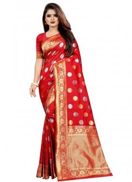 Woven Work Banarasi Silk Trendy Classic Saree