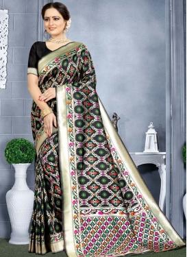 Woven Work Banarasi Silk Trendy Classic Saree For Ceremonial
