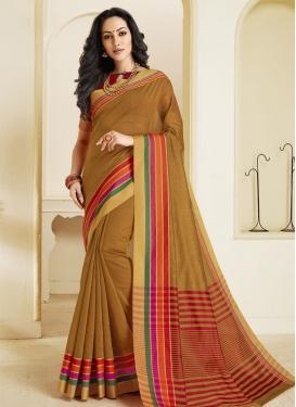 Woven Work Chanderi Cotton Trendy Classic Saree
