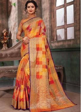 Woven Work Contemporary Saree