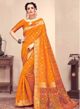 Woven Work Contemporary Style Saree