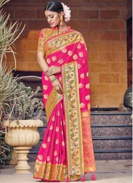 Woven Work Contemporary Style Saree