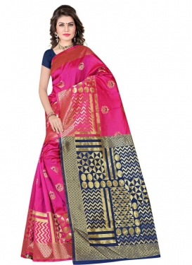Woven Work Contemporary Style Saree For Casual