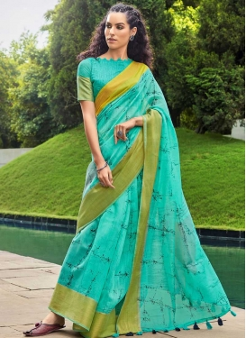 Woven Work Cotton Designer Contemporary Saree
