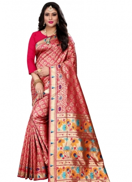 Woven Work Cotton Silk Designer Contemporary Saree