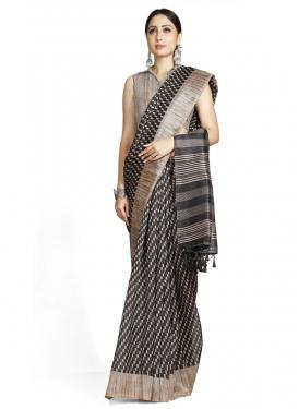Woven Work Cotton Silk Designer Traditional Saree For Casual