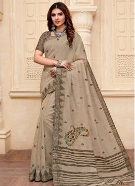 Woven Work Cotton Silk Traditional Designer Saree For Casual