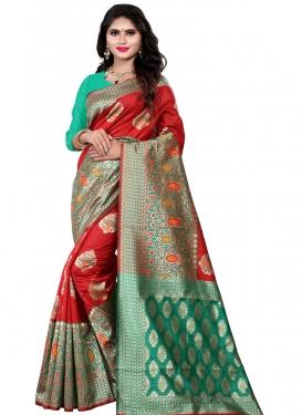 Woven Work Cotton Silk Trendy Saree