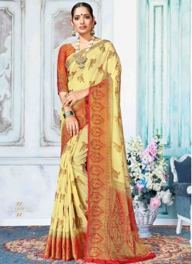 Woven Work Designer Contemporary Saree