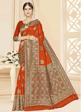 Woven Work Designer Contemporary Saree For Casual