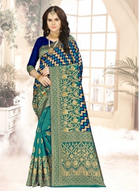 Woven Work Designer Contemporary Saree For Casual