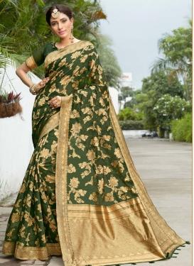 Woven Work Designer Contemporary Saree For Ceremonial