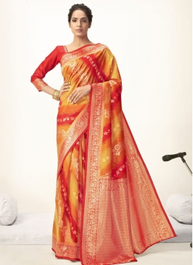 Woven Work Designer Contemporary Saree For Ceremonial