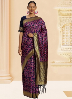 Woven Work Designer Contemporary Style Saree