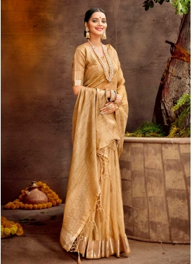 Woven Work Designer Contemporary Style Saree For Casual