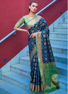 Woven Work Designer Contemporary Style Saree For Ceremonial
