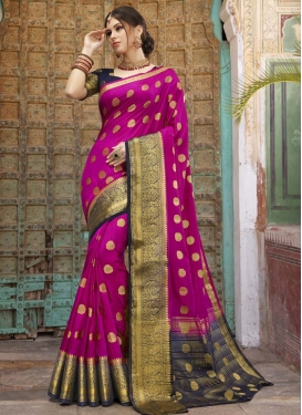 Woven Work Designer Contemporary Style Saree For Festival