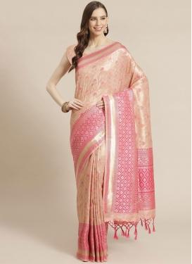 Woven Work Designer Contemporary Style Saree For Festival