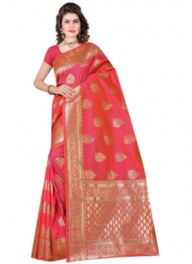 Woven Work Designer Traditional Saree For Casual