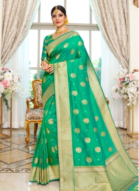 Woven Work Designer Traditional Saree For Ceremonial