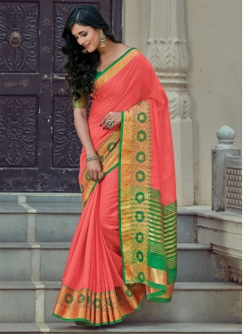 Woven Work Handloom Cotton Contemporary Style Saree