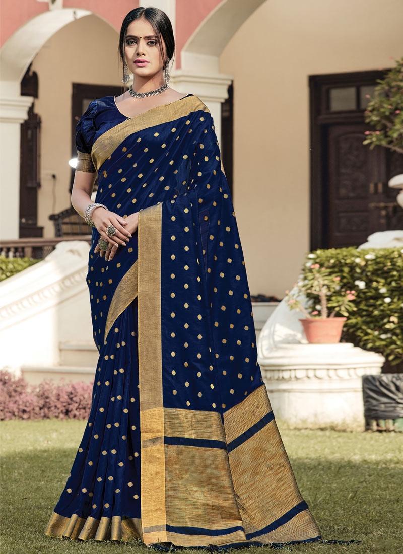 Woven Work Handloom Silk Designer Contemporary Saree