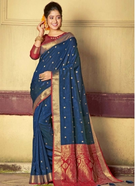 Woven Work Handloom Silk Designer Traditional Saree