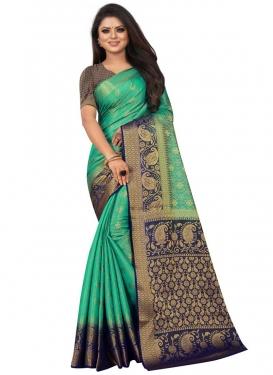 Woven Work Jacquard Silk Trendy Classic Saree