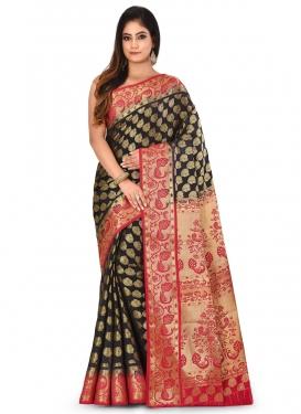 Woven Work Kanjivaram Silk Designer Contemporary Style Saree For Ceremonial
