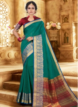 Woven Work Khadi Silk Designer Contemporary Style Saree