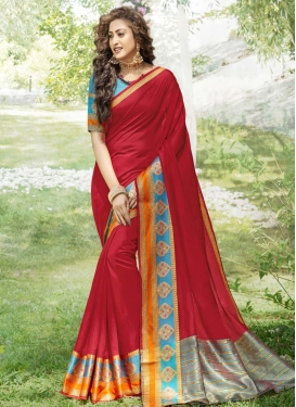 Woven Work Khadi Silk Trendy Classic Saree