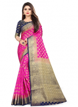 Woven Work Malbari Silk Contemporary Style Saree