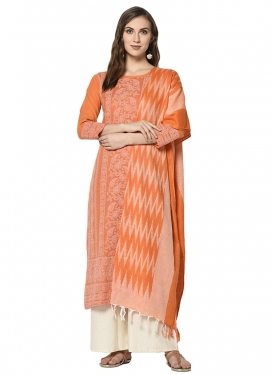 Woven Work Palazzo Straight Suit