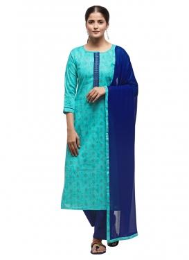 Woven Work Pant Style Pakistani Salwar Suit