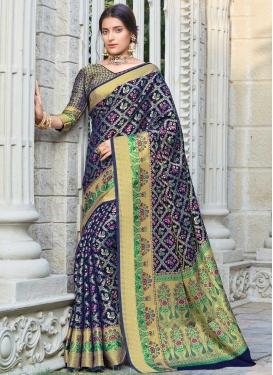 Woven Work Patola Silk Contemporary Style Saree