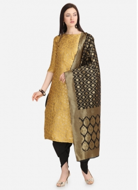 Woven Work Punjabi Salwar Kameez For Casual