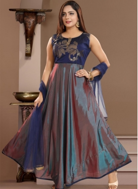 Woven Work Readymade Classic Gown