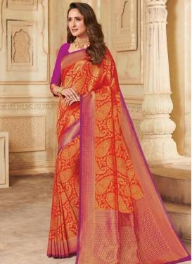 Woven Work Silk Designer Contemporary Saree