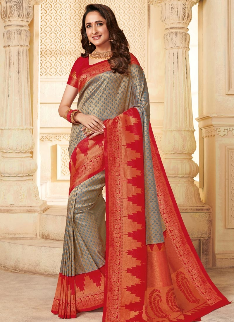 Woven Work Silk Trendy Classic Saree