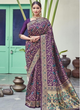 Woven Work Traditional Designer Saree For Ceremonial