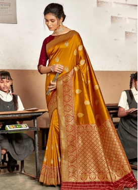 Woven Work Traditional Designer Saree For Festival